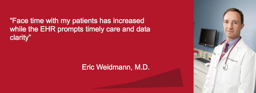 Face time with my patients has increased while the EHR prompts timely care and data clarity